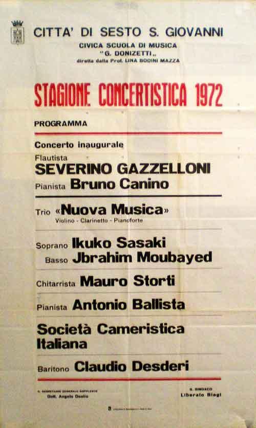 Concerto di Severino Gazzelloni