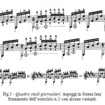 Fig.5 - Quattro studi giornalieri. Arpeggi in forma lata