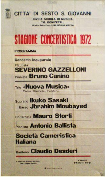 Fig.3 - Stagione concertistica 1972 - Mauro Storti