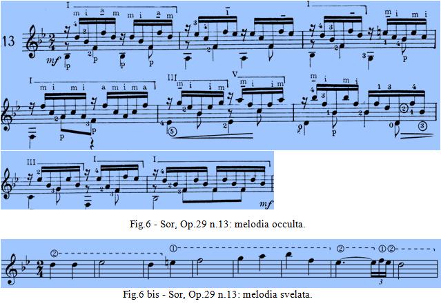 Sor Op.29 n.13 - melodia occulta.