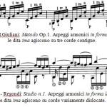 Fig.2 - Regondi - Studio n.1. Arpeggi armonici in forma lata