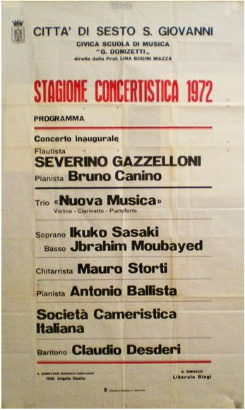 Fig.3 - Stagione concertistica 1972 - Mauro Storti
