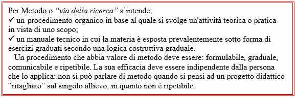 1 - Mauro Storti - Definizione di Metodo